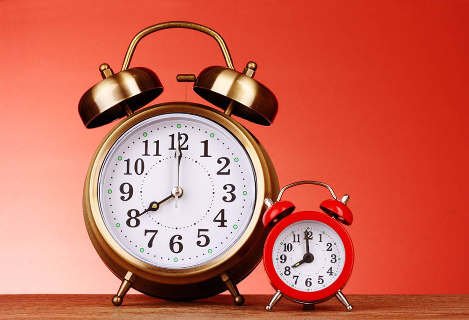Use two alarm clocks to wake up