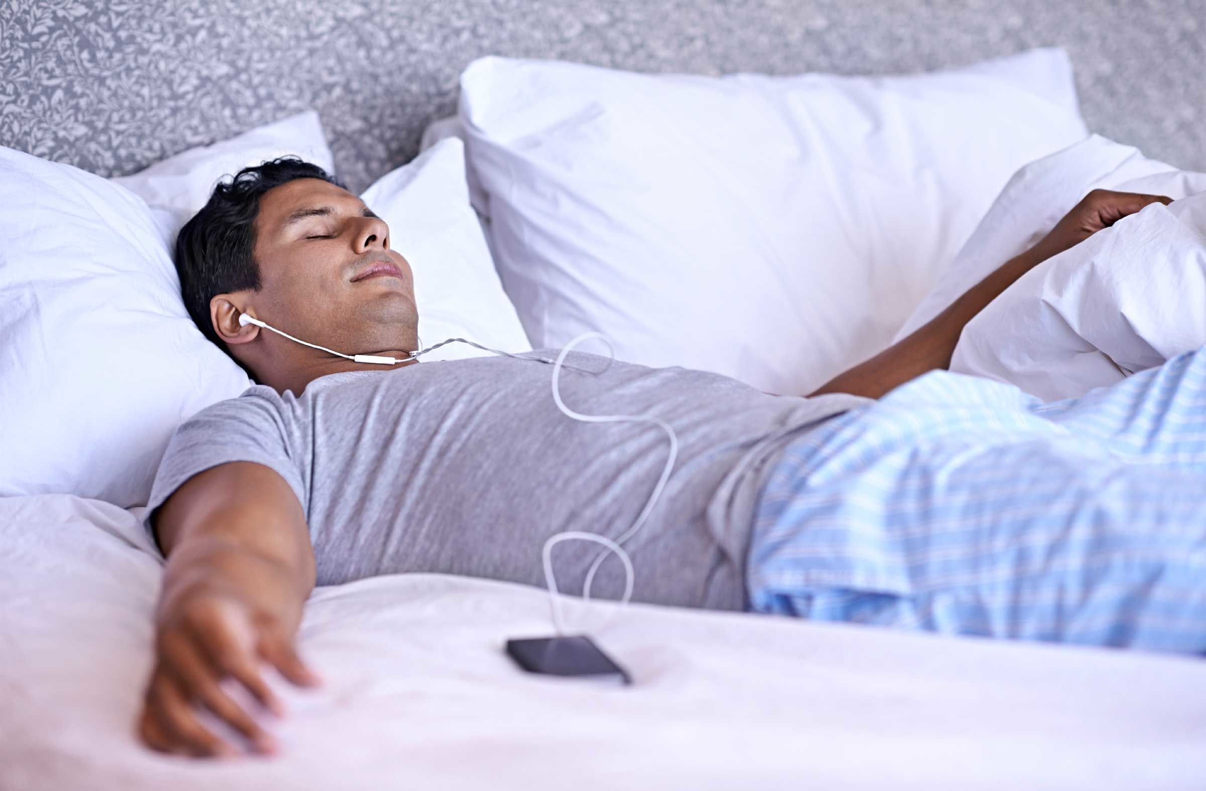 Sleeping with music